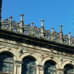 Detail of the façade of the treasure of the #SantiagoDeCompostela #cathedral