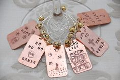 Christmas Drink Charms by FancyGirlDesigns on Etsy, $18.00