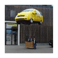 Anfertigung fliegender Werbeobjekte (Heliumballone, Fesselballone, Werbeluftschiffe als Sonderformen) - als Blickfang für Veranstaltungen, Messen, Großevents - mehr dazu unter www.noproblaim.de Car, Bowties, Automobile, Autos, Cars