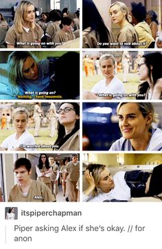 Piper worrying about Alex in season 4 - Vauseman - Alex Vause - Piper Chapman - Orange is the new black - OITNB
