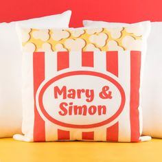 Personalised Cushion - Popcorn | GettingPersonal.co.uk