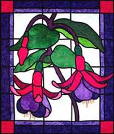 Fushia Stained Glass Pattern beautiful colours in this quilt! Stained Glass Quilt, Faux Stained Glass, Stained Glass Designs, Stained Glass Projects, Stained Glass Patterns, Stained Glass Windows, Mosaic Flowers, Stained Glass Flowers, Patchwork Designs