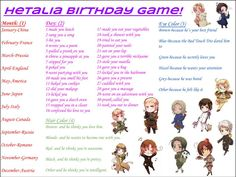 Germany gave me a hug because he is my best friend and he thinks I love him!I actually like Prussia more than Germany! Sorry Ludwig! Hetalia Birthday Scenario, Birthday Scenario Game, Birthday Games, I Do Love You, I Like Him, Give It To Me, Bad Touch Trio, We Are Best Friends, Pranks