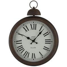 Antique Metal Round Wall Clock