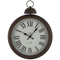 Antique Metal Round Wall Clock