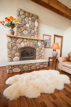 4-Pelt Australian Sheepskin Rug by Overland Sheepskin Co. (style 80317) in Champagne Shag Rug, Rugs, Home Decor, Shaggy Rug, Farmhouse Rugs, Homemade Home Decor, Carpet, Interior Design, Decoration Home