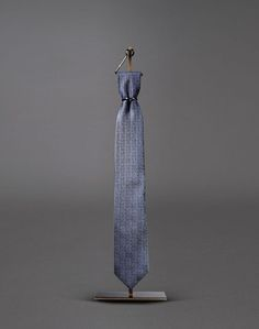 Brioni midnight blue silk herringbone tie