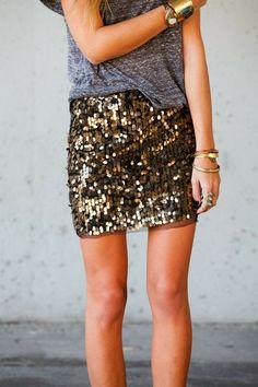 Ladies Sequin Tulle Skirt