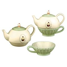 Grasslands Road Just Desserts Cupcake 32-Ounce Tea for One Teapot and Teacup Set by tabletopi