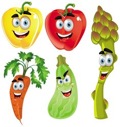 cartoon fruit and vegetable images | Vegetable cartoon image vector-4 | Download Free Vectors