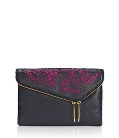 Debutante Asymmetric Lazer Cut Clutch | Handbags | Henri Bendel