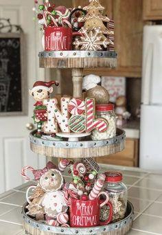 Gingerbread Christmas Decor, Dollar Tree Christmas, Miniature Christmas Trees, Christmas Figurines, Christmas Candles, Christmas Centerpieces, Christmas Mugs, Christmas Goodies, Rustic Christmas