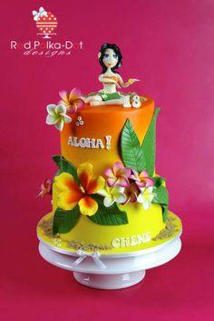 Tropical /Hawaii cake