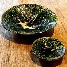 穂高隆二さん作織部蓮の葉皿おいしい器展好評開催中です #織部 #織部下北沢店 #陶器 #器 #ceramics #pottery #clay #craft #handmade #oribe #tableware #porcelain