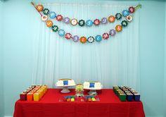 Rainbow Birthday Party theme. Crafty Party Creations