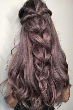 long half up braided wedding hairstyle_cr - Deer Pearl Flowers / http://www.deerpearlflowers.com/wedding-hairstyle-inspiration/long-half-up-braided-wedding-hairstyle_cr/