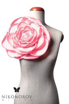 Broszka Gigant - Pudrowy róż