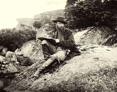 Alfred Waud, the Civil War sketch artist at Gettysburg in June or July of 1863, Timothy O'Sullivan via the Library of Congress, Civil War Glass Negative Collection