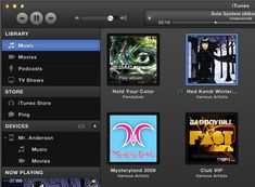 Dark Grey iTunes UI - 365psd