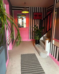 """Get Kooky's Instagram photo: """"Have you got yourself some Beetlejuice stripes yet? I honestly still obsess over the striped vinyl in our hallway! I need to get the…"""" Beetlejuice, Vaporwave, You Got This, Stripes, How To Get, Nostalgia, Interiors, Living Room, Future"""