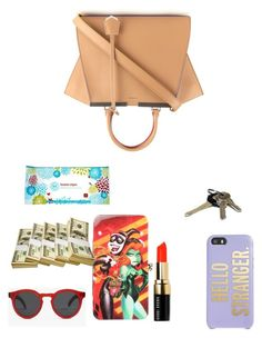 """Rose Bag"" by lunalynch13 ❤ liked on Polyvore featuring Fendi, Illesteva, Kate Spade, Bobbi Brown Cosmetics, Avon and The Honest Company"
