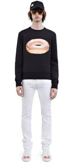 #AcneStudios Casey dough sweatshirt from the emoji capsule collection