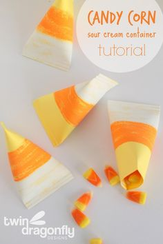 Unique Candy Corn Container with tutorial