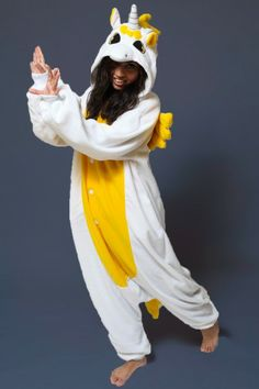 Golden Unicorn Onesie with wings I could get a set for the whole family!