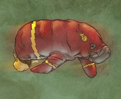 US-based artist Joel Micah Harris has reimagined what superheroes would look like in the form of manatees.
