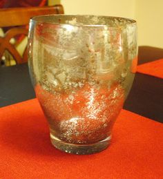 Mercury Glass Vase matches my lamp :)