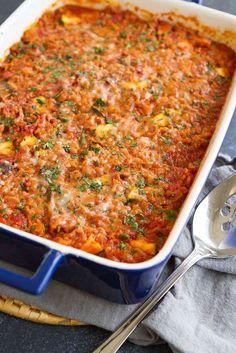 Healthy Turkey, Zucchini & Rice Casserole - Easy Dinner Recipe