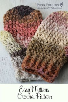 So cozy! These crochet mittens would be so warm in the winter