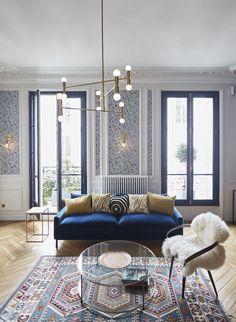 Séjour  Appartement Parisien De 150m2 GCG Architectes