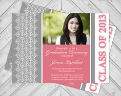 2014 Graduation Announcement Senior College by alittletreasure