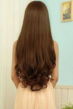 45 ideas hair cuts lacio cabello largo for 2019 Curled Ends Hair, Curls For Long Hair, Long Curly Hair, Long Hair Cuts, Long Hair Styles, Thick Hair, Curls Hair, Best Human Hair Extensions, Clip In Hair Extensions