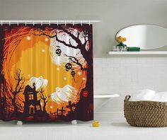 Halloween Shopaholic: Cute And Spooky Halloween Shower Curtains