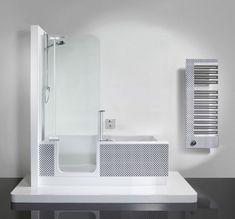 [ Modern Tub Shower Small Tub Shower Combo Unit Tub Shower ] - Best Free Home Design Idea & Inspiration Soaker Tub With Shower, Corner Bathtub Shower, Shower Tub, Corner Tub, Douche Design, Small Bathtub, Square Bathtub, Shower Units, Modern Baths