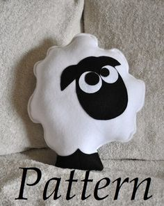 White sheep pillow stuffed animal  DIY PDF by bedbuggspatterns, $4.99