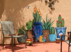 Wall murals to add extra interest in a small/urban garden/yard