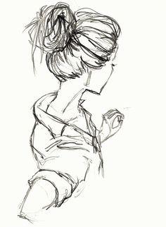 sketches of people - sketches . sketches of people . sketches of love Girl Drawing Sketches, Pencil Art Drawings, Cool Art Drawings, Drawing Ideas, Drawing Girls, Pen Sketch, Arte Sketchbook, Drawing People, Sketches Of People