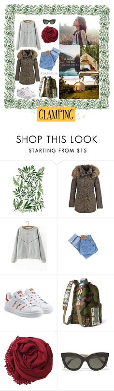 """""""Glamping for the summer!"""" by adorkable-curves ❤ liked on Polyvore featuring interior, interiors, interior design, home, home decor, interior decorating, Wildfox, Levi's, adidas Originals and Bajra"""