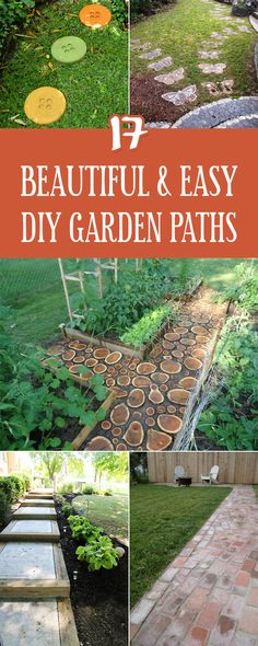 17 Beautiful and Easy DIY Garden Paths