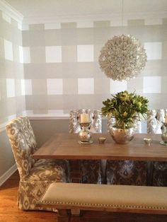 Spotted: Archer dining table and bench in @Jamie Meares's mom's home.