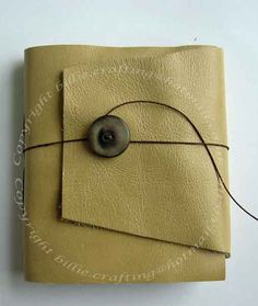 Leather Pamphlet Stitch book with Closure