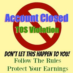 TOS and Compliance in Affiliate Programs are vitally important to your online presence and if you fail to comply your accounts can be suspended or closed.