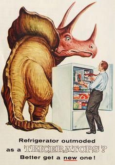 dinosaurs and refrigerators