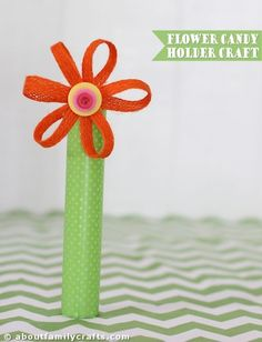 Flower Candy Holder Craft   About Family Crafts