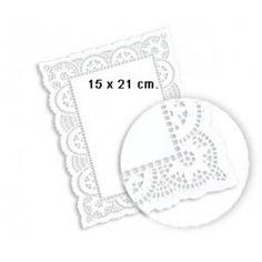 Blondas caladas fabricadas en color LITOS de papel celulosa de diferentes medidas y con distintos motivos de calado para su utilización en pastelerías, salones de té, cafés, hoteles, etc. Colocándolas sobre bandejas o platos podrá darle un toque muy especial a su mesa. http://www.ilvo.es/es/product/blonda-calada---13-x-31