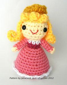 Free+English+Crochet+Patterns+Amigurumi | Sleeping Beauty Aurora Amigurumi Crochet Pattern by ~janageek on ...