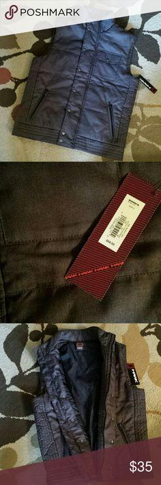 NWT Tony Hawk Men's Gray Vest Brand new with tags. Size small men's Tony Hawk burnt ash (charcoal gray) stylish vest. Tony Hawk Jackets & Coats Vests